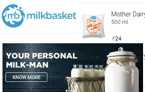Photo-Milk Basket Daily Milk Paneer Egg Supply